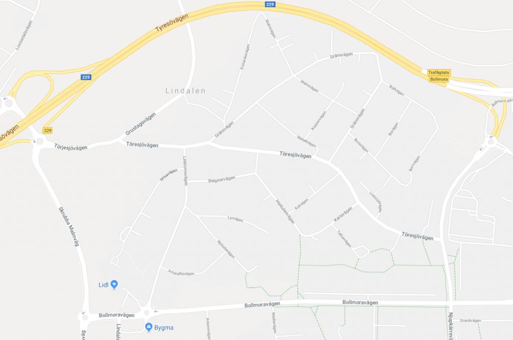 lindalen karta